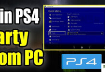 join ps4 party chat