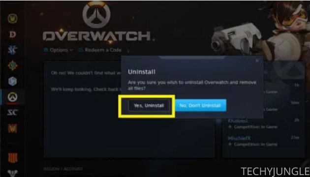 Overwatch uninstall