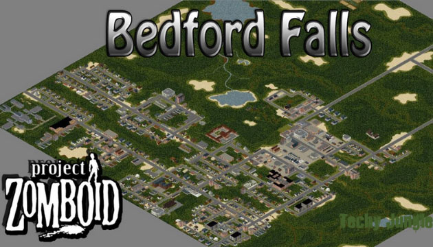 bedford falls in project zomboid map