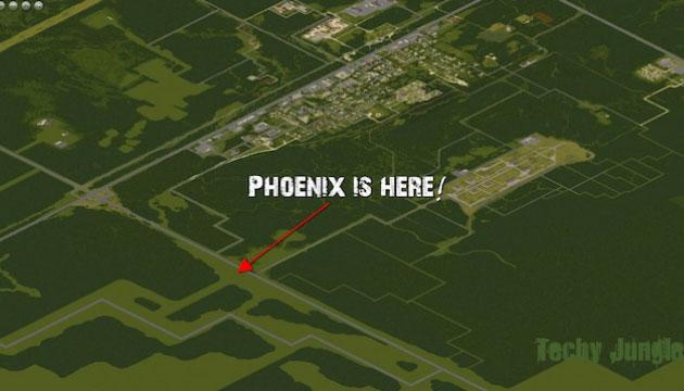 phoenix in project zomboid map