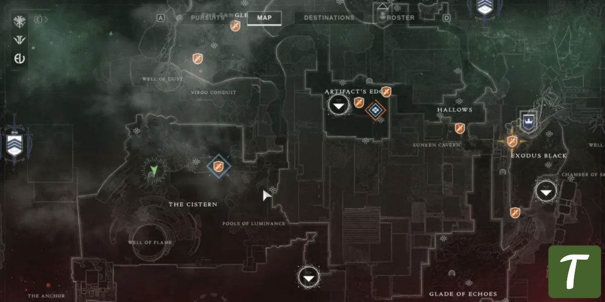 Conflux Lost Sector location