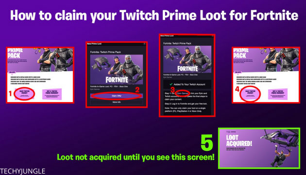 Claim twitch prime loot