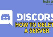 how to delete discord servers