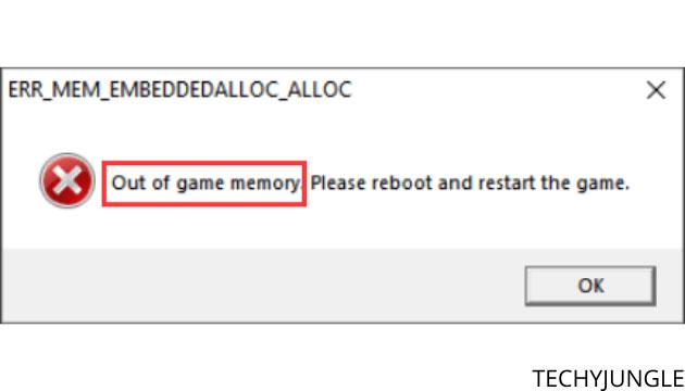 memory error gta 5